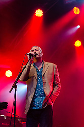 © Licensed to London News Pictures. 15/07/2012. Location, Country.  Tindersticks perform live at Somerset House, London, as part of the Summer Series of events.  Tindersticks are an Indie rock band from Nottingham, England that formed in 1991. They released six albums before singer Stuart A. Staples took on a solo career. The band reunited briefly in 2006, but more permanently the following year. The band have recorded several film soundtracks. Photo credit : Richard Isaac/LNP