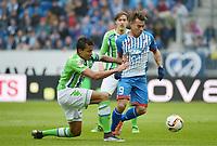 v.l. Luiz Gustavo (Wolfsburg), Eduardo Vargas<br /> Sinsheim, 12.03.2016, Fussball Bundesliga, TSG 1899 Hoffenheim - VfL Wolfsburg<br /> Norway only