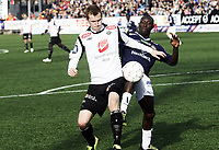 Fotball , 6. mai 2012 , Tippeligaen , Eliteserien , Strømsgodset - Sogndal 3-0<br /> Ørjan Hopen , Sogndal<br /> Alfred Sankoh , SIF
