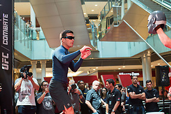 October 25, 2017 - Sao Paulo, Sao Paulo, Brazil - LYOTO MACHIDA, during an open practice session to the UFC Fight Night in Sao Paulo, Brazil. (Credit Image: © Paulo Lopes via ZUMA Wire)