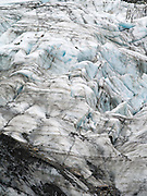 Closeup view of Fox Glacier/Te Moeka o Tuawe, Westland/Tai Poutini National Park, New Zealand