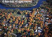 Aerial, Delaware River, Milford, PA