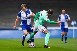 James Daly of Bristol Rovers is challenged by Nicky Hunt of Darlington - Rogan/JMP - 30/11/2020 - FOOTBALL - Memorial Stadium - Bristol, England - Bristol Rovers v Darlington - FA Cup Second Round Proper.