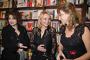 HELENA BONHAM-CARTER; HELEN FIELDING; ALLIE ESIRI;  Allie Esiri's The Love Book launch party , Daunt Books <br /> 83 Marylebone High Street, London. 5 February 2014
