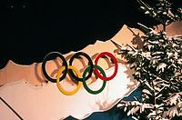 Olympiske leker, 05.12.2001 Salt Lake City, USA,<br />Feature Olympische Winterspiele. Die Olympischen Ringe. Illustrasjonsfoto.<br />Foto:Digitalsport