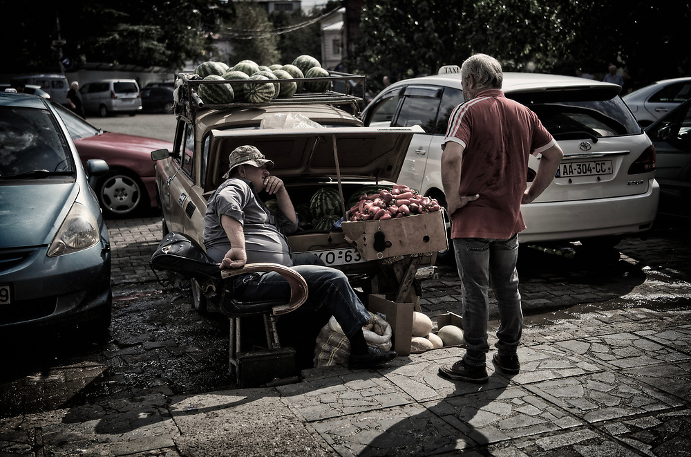 At the market in Kutaisi