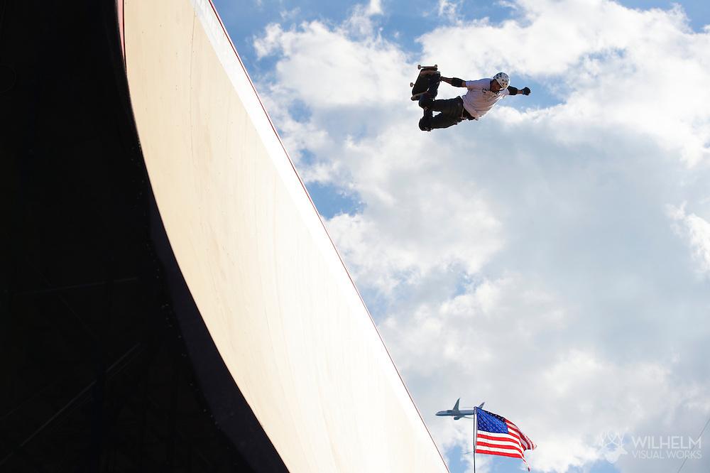 Edgar Pereira during Skate Big Air Practice at 2014 X Games Austin in Austin, TX.    ©Brett Wilhelm/ESPN