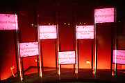 The entrance of Amora, the Academy of Sex and Relationships, on Tuesday, April 17, 2007, in London, UK. The world's first visitor attraction dedicated to love, sex and relationships opens its door officially tomorrow (18th of April 2007) in Piccadilly. The permanent interactive attraction, Amora, expects to draw over half a million, 18+ visitors in the first year and fuses entertainment, excitement and education in a unique powerful sensory experience. With seven zones covering every aspect of relationships from first filtrations and dating to fantasy and fetish. Visitors can explore the science of attraction - what they find attractive and why, learn how to enhance their skills and even create what their perfect partner might look like. Male and female models help demystify erogenous zones, G-spot and prostate, while insights and technique tips are offered on various topics. Sexual awareness and well-being are also covered thoroughly. **Italy Out**..
