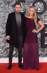 Aaron Ramsey and wife Colleen Rowlands attending the Collateral Beauty Premiere, Vue Cinema, Leicester Square, London. Photo credit should read: Doug Peters/EMPICS Entertainment