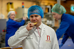Pictured: Derek Mackay<br /> Economy Secretary Derek Mackay visited Nairn's Oatcakes in Edinburgh today to comment on the latest export and GDP statistics. Mr Mackay enjoyed a short tour of the factory where staff demonstrated the manufacturing process.<br /> <br /> Ger Harley | EEm 30 January 2019