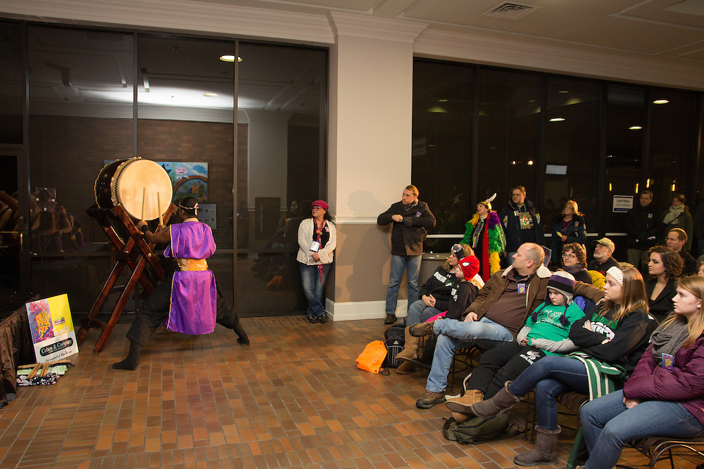 Mame Daiko performs at First Night Akron 2015