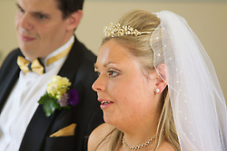 Visually impaired bride and groom.