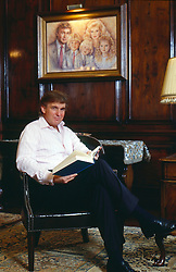 Nov 1, 1992 - Palm Beach, Florida, U.S. - EXCLUSIVE - DONALD TRUMP in his library at Mar-a-lago in Palm Beach. (Credit Image: © Katie Deits via ZUMA Wire)
