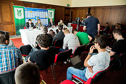 Rodolfo Vanoli, Milan Mandaric during presentation of a new head coach of NK Olimpija, on April 22, 2016 in Austria Trend Hotel, Ljubljana, Slovenia. Photo by Vid Ponikvar / Sportida
