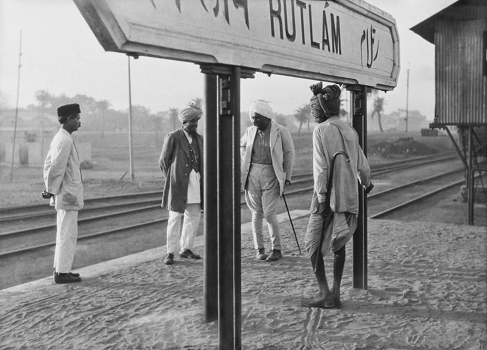 Scene at Rutlam Railway Station, India, 1929