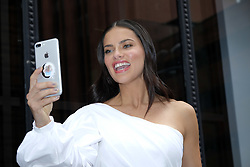 September 20, 2017 - New York, New York, U.S. - Victoria's Secret model ADRIANA LIMA using FAceTime as she makes an appearance at Build Series. (Credit Image: © Curtis Means/Ace Pictures via ZUMA Press)