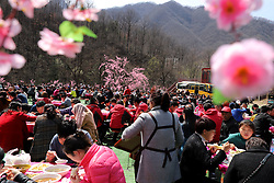 March 24, 2019 - Luoyang, Luoyang, China - Luoyang,CHINA-Thousands of tourists enjoy the feast at Laojun Mountain Scenic Area in Luoyang, central China's Henan Province. (Credit Image: © SIPA Asia via ZUMA Wire)