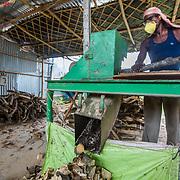CAPTION: Chopping up biomass. LOCATION: Gayari, Araria District, Bihar, India. INDIVIDUAL(S) PHOTOGRAPHED: Sazzam Hussain.