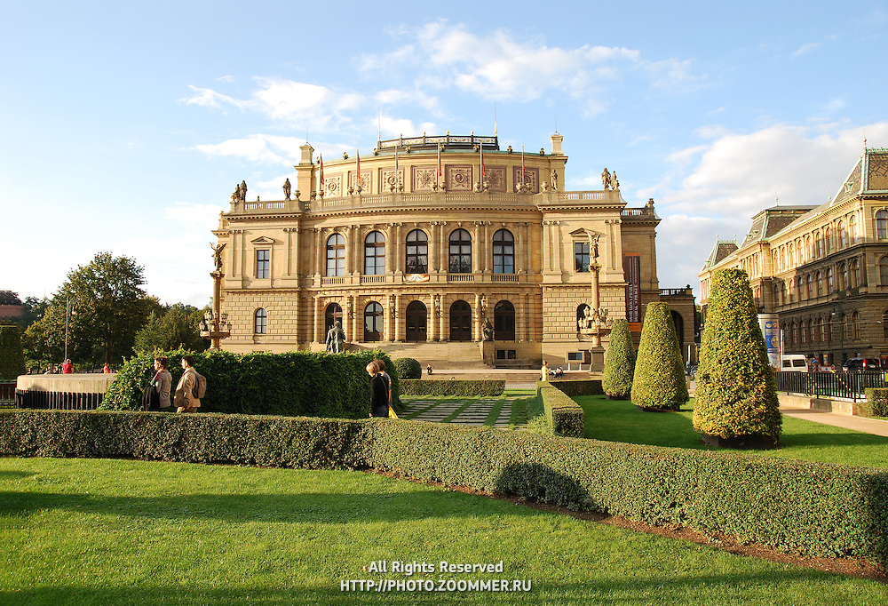 Rudolfinum opera house and gallery, the most important neo-renaissance building in Prague