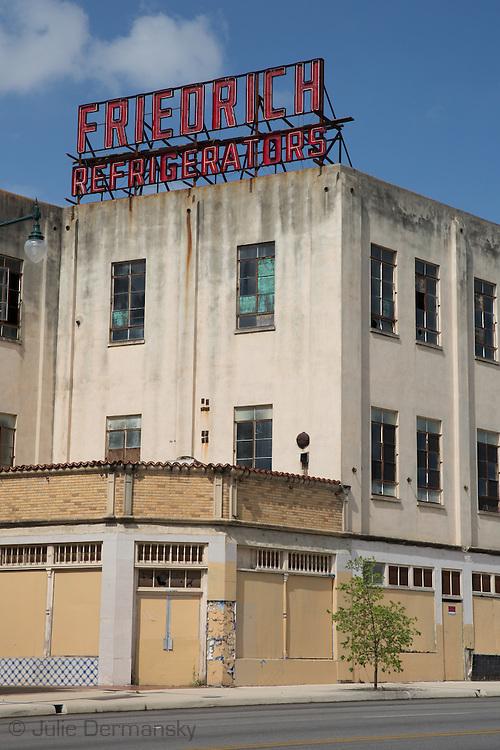 Abandoned refrigerator factory in San Antonio Texas