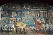 Romania. Voronet. orthodox monastery painted  Voronet  / monastere peint (orthodoxe)  Voronet  Roumanie monastere de femmes