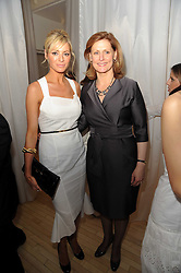 Left to right, TESS DALY and SARAH BROWN at a private dinner for the White Ribbon Alliance's Global Dinner Party Campaign, at Agua, Sanderson Hotel, Berners Street, London on 4th March 2010.
