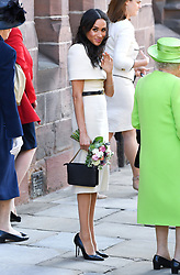 The Duchess of Sussex after attending a lunch at Chester Town Hall. Photo credit should read: Doug Peters/EMPICS