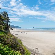 House over looking Arcadia Beach. Oregon Coast.