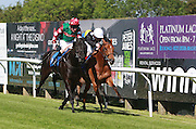 Jockey Liam Keniry rides Arlecchino's Leap to victory during the 4.20 race at Brighton Racecourse, Brighton & Hove, United Kingdom on 10 June 2015. Photo by Bennett Dean.