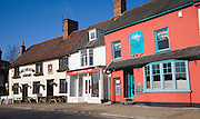 King's Head Inn, Wild Strawberry cafe, Galley restaurant, Market Hill, Woodbridge, Suffolk, England