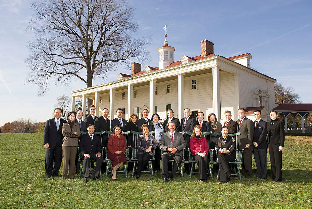 Former President of Mexico, Vicente Fox meets with former presidents of Bolivia, Peru and Spain - Carlos Mesa, Alejandro Toledo and Jose Aznar and the board of Centro Fox and Vision Mexico at Mount Vernon, Wednesday, November 28, 2007.