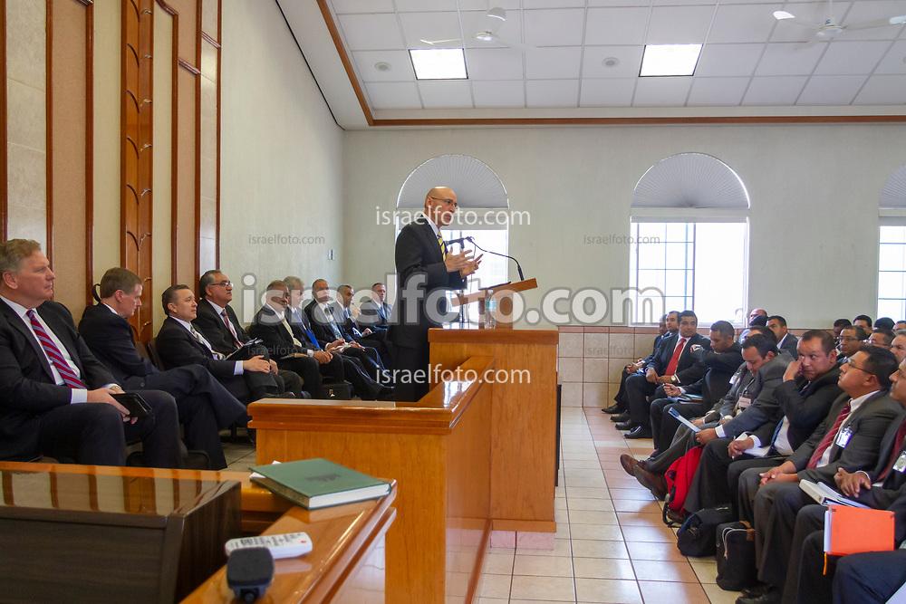 Cuautitlan Izcalli, Estado de Mexico, Mexico. May 16, 2015. Elder Arnulfo Valenzuela, Seventy and member of the Mexico Area Presidency, addresses to a group of local leaders in Cuautitlan Izcalli, Estado de Mexico, Mexico.