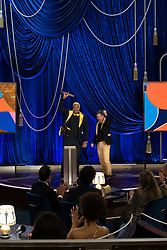 Travon Free and Martin Desmond Roe accept the Oscar® for Live Action Short during the live ABC Telecast of The 93rd Oscars® at Union Station in Los Angeles, CA, USA on Sunday, April 25, 2021. Photo by Todd Wawrychuk/A.M.P.A.S. via ABACAPRESS.COM