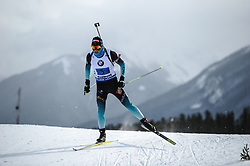 February 8, 2019 - Calgary, Alberta, Canada - Fillon Maillet Quentin (FRA) is competing during Men's Relay of 7 BMW IBU World Cup Biathlon 2018-2019. Canmore, Canada, 08.02.2019 (Credit Image: © Russian Look via ZUMA Wire)