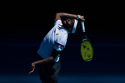 January 20, 2019 - Melbourne, VIC, U.S. - MELBOURNE, VIC - JANUARY 20: FRANCIS TIAFOE (USA) (AUS) during day seven match of the 2019 Australian Open on January 20, 2019 at Melbourne Park Tennis Centre Melbourne, Australia (Photo by Chaz Niell/Icon Sportswire) (Credit Image: © Chaz Niell/Icon SMI via ZUMA Press)