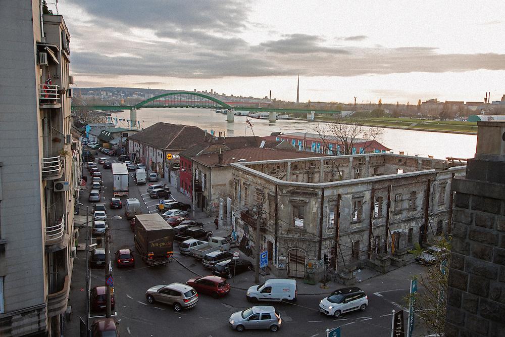 Savamala neighborhood of Belgrade, Serbia.