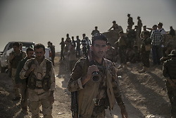 October 20, 2016 - Dohuk, Iraq - The battle of Mosul, day 4. Peshmerga soldiers in Dohuk, north of Mosul, Iraq. The Kurdish and Iraqi forces are getting closer to the Isis stronghold every day.   (Credit Image: © Magnus Wennman/Aftonbladet/IBL via ZUMA Wire)