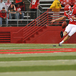 Sep 12, 2009; Piscataway, NJ, USA; Rutgers punter Teddy Dellaganna (93) kicks off follow a touchdown during the first half of Rutgers' 45-7 victory over Howard in NCAA College Football at Rutgers Stadium.