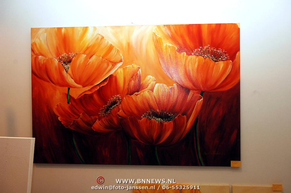 NLD/Huizen/20060105 - Nieuwjaarsreceptie gemeente Huizen met als thema kunst, schilderij, bloemen