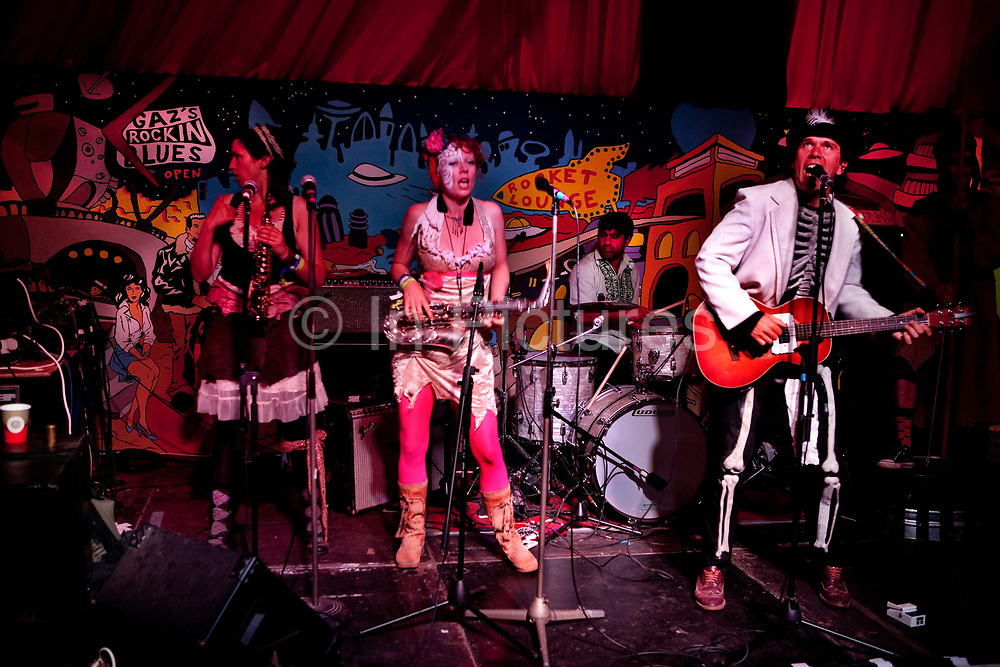 Band in the Rocket Lounge, Glastonbury Festival 2010