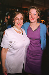 Left to right, designer NINA CAMPBELL and her daughter MISS HENRIETTA KONIG, at a party in London on 1st June 1999.MSP 5