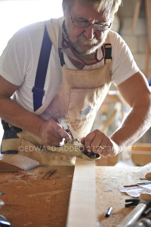 "David Heim Boat Builder. Using the finest mahogany woods and hand tools David Heim creates a beautiful ""Nutshell Pram""<br /> Tender"