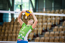 POGAČAR Eva of Slovenian national team during volleyball match between Slovenia and Portugal in CEV Volleyball European Silver League 2021, on 12 of June, 2021 in Dvorana Ljudski Vrt, Maribor, Slovenia. Photo by Blaž Weindorfer / Sportida