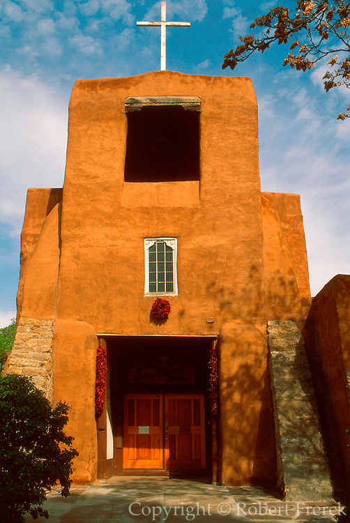 SPANISH MISSION, NEW MEXICO Santa Fe: San Miguel, oldest church
