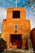 SPANISH MISSION, NEW MEXICO Santa Fe: San Miguel, oldest church