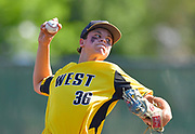 Joliet West pitcher Jimmy Anderson throws. OFallon played Joliet West in a Class 4A baseball sectional championship game at Blazier Field in OFallon, IL on Friday June 11, 2021. Tim Vizer/Special to STLhighschoolsports.com.