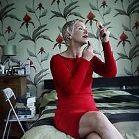 Nederland, Amsterdam , 24 augustus 2011..Christine Otten, schrijfster en performer..Foto:Jean-Pierre Jans