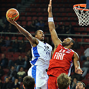 Anadolu Efes's Brian Hopson (L) during their Turkish Basketball League match Anadolu Efes between Tofas at the Abdi ipekci Arena in Istanbul, Turkey on Tuesday, 24 December, 2013. Photo by TURKPIX
