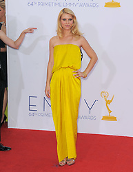 Claire Danes arriving for the 64th Annual Primetime Emmy Awards held at Nokia Theatre L.A. Live in Los Angeles, CA, USA on September 23, 2012. She is wearing a Lanvin dress. Photo by debbie VanStory/ABACAPRESS.COM  | 335854_091