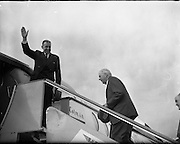 An Taoiseach Seán Lemass leaves for London Talks.17.07.1961